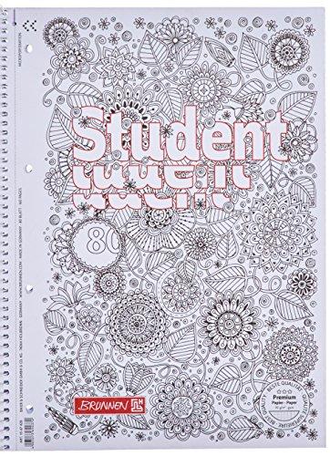 Brunnen Collegeblock Student Zenart, A4, kariert