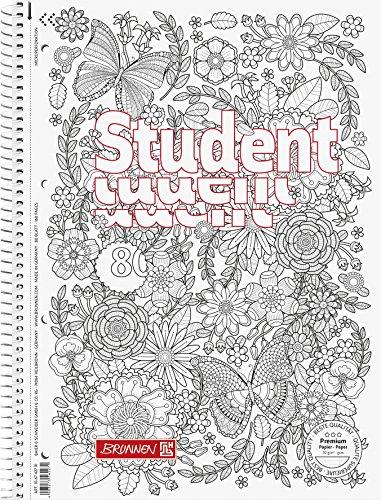 Brunnen Collegeblock Student Zenart Motiv Garten, A4