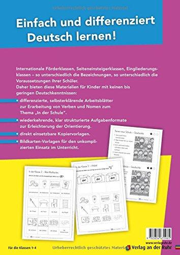 In der Schule – Differenzierte Arbeitsblätter für Deutsch-Anfänger (DaZ Praxis) -