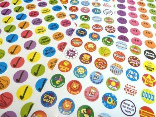 280 Belohungsaufkleber zur Motivation von Kindern