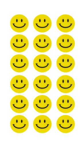 180 Gelbe Smiley Face Stickers ø 2cm