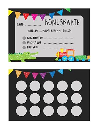 5 Belohnungskarten, Stempelkarte für Kinder