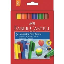 Faber Castell - Filzstifte Jumbo Connector, 6-tlg.